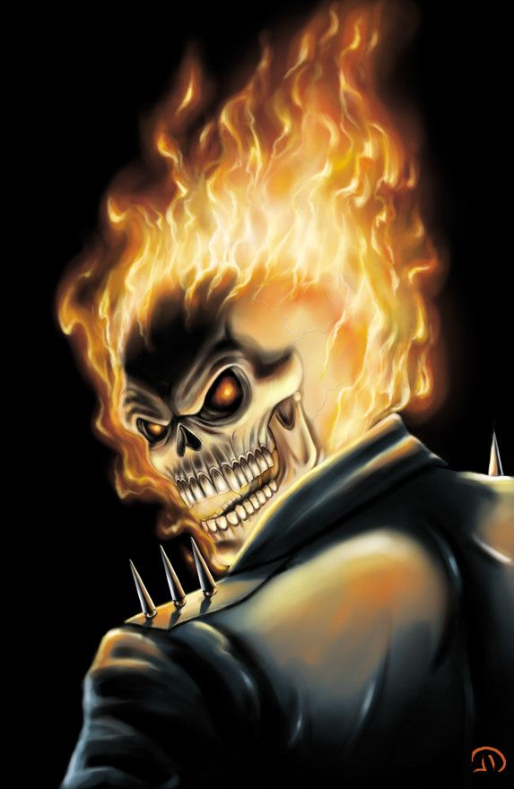Ghost Rider Digital Art by Michael Damiani |Ghost Rider Digital Painting Photoshop