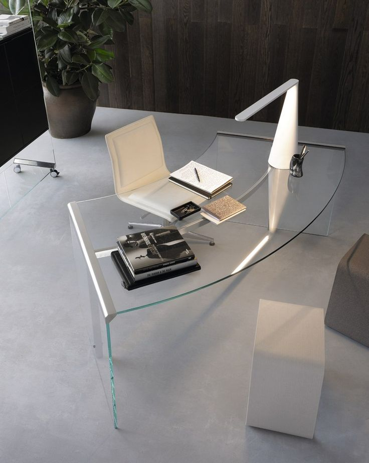 Elegant Crystal Office Desk By Gallotti U0026 Radice A Curtain Separates A Guest Bed  From A Home Office In This Pennsylvania Home. Home Office