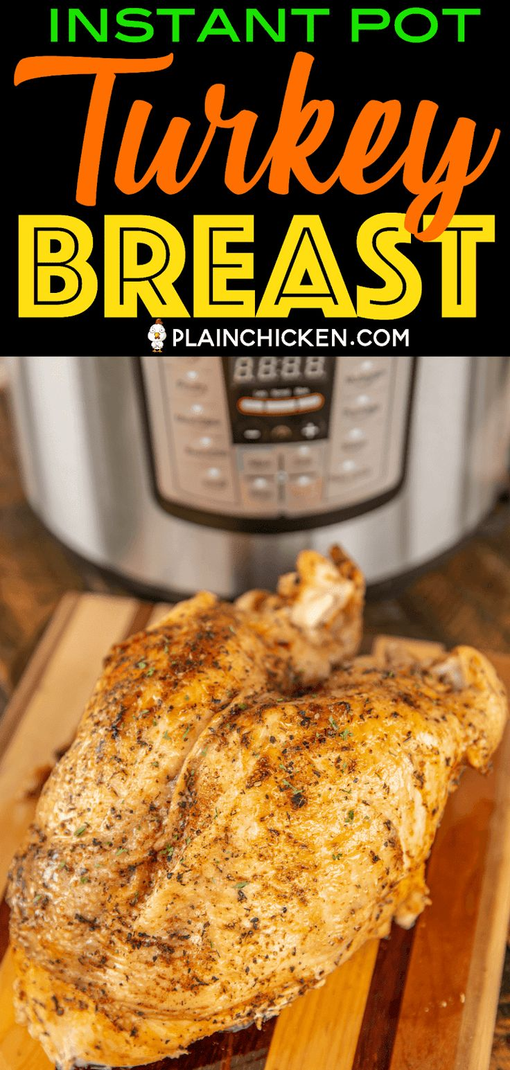 Instant Pot Turkey Breast - the most tender and juicy turkey ever!!! Brine the turkey in a mixture of salt, paprika, garlic, bro… | Instant Pot cooking | Pinte…