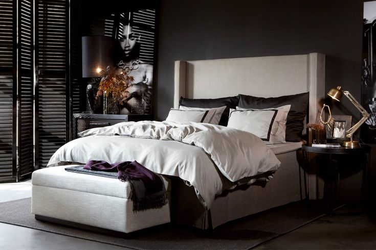 This type of head board for the main bedroom in black velvet?