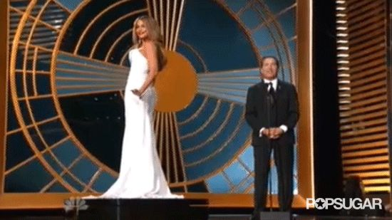 """Pin for Later: 12 Moments That Had You Saying """"WTF?"""" This Year Sofia Vergara's Slightly Sexist Emmys Stunt"""