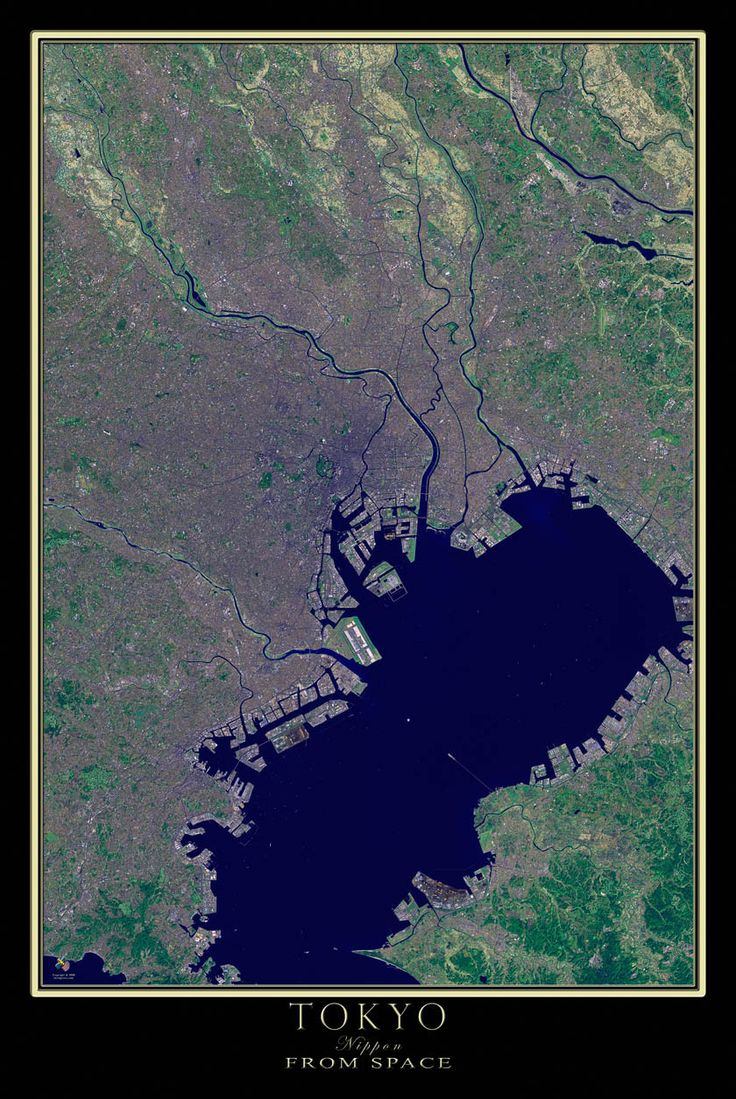 Earths Map%0A Tokyo Japan Satellite Poster Map