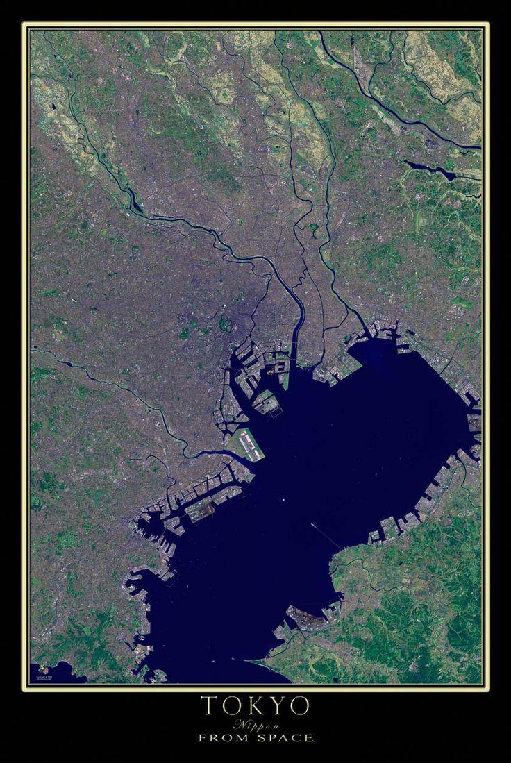 Tokyo Japan Satellite Poster Map 369 best