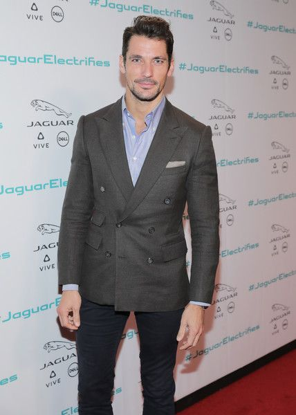 Model David Gandy at the Jaguar Concept reveal, ahead of its global debut at the Los Angeles Auto Show, at MILK Studios in Los Angeles, California.