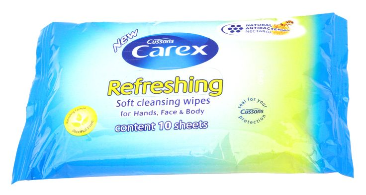 Cussons Carex Refreshing Soft Cleansing Wipes [To keep my hands clean before and after applying makeup.]