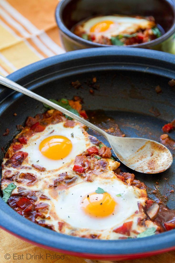 Shakshouka – Moroccan Eggs Tagine - paleo, gluten free, low carb recipe. Via Eat Drink Paleo http://eatdrinkpaleo.com.au/shakshouka-moroccan-egg-tagine/