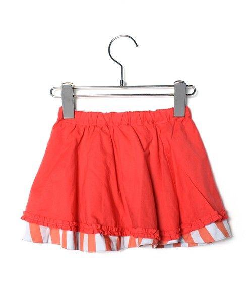 フェリシモキッズ(フェリシモキッズ)のおしゃれモードなストライプリバーシブルスカート   (スカート)|詳細画像
