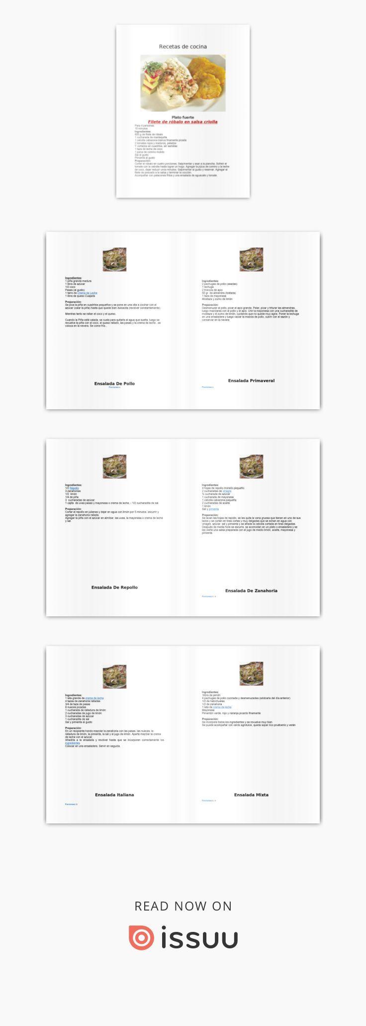 Recetas de cocina pdf