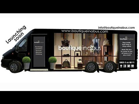 Meet Bertha, once an old, community bus, now stylish, sleek & chic boutique! www.boutiqueinabus.com