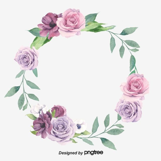Retro Purple Elements Romantic Pink Violet Png Transparent Clipart Image And Psd File For Free Download Wreath Watercolor Wreath Drawing Hd Flowers