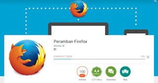 memasang browser mobile firefox