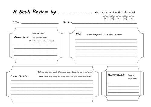 As 25 melhores ideias de Book review template no Pinterest - book review template