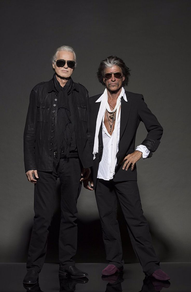 Jimmy Page and Joe Perry photographed by Ross Halfin Nov. 11, 2016 at the Classic Rock Awards in Tokyo.