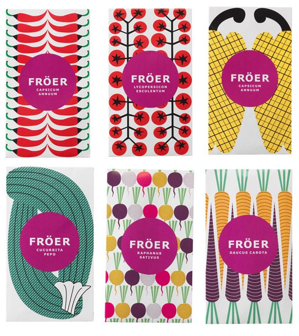 Maja Sten seed packet designs for IKEA