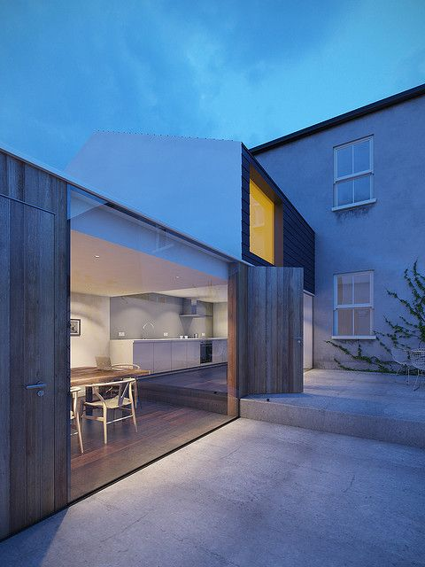 001 Dublin House Extension Dusk by Daniel James Hatton, via Flickr
