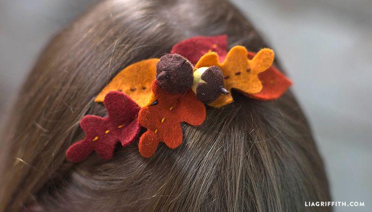 DIY Fall Felt Leaf Headband