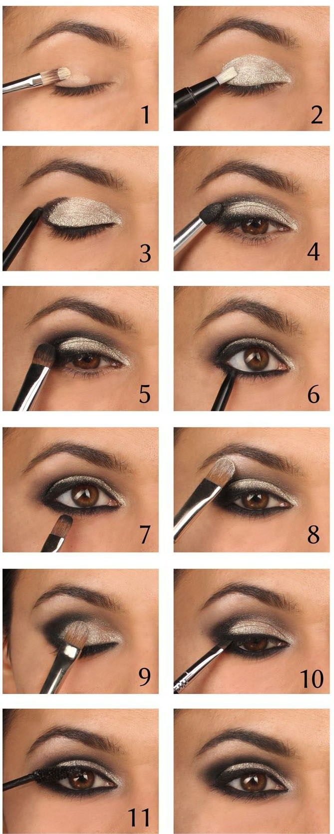White Makeup Brown Makeup How To Apply Eyeliner On Hooded Eyes Droopy Eyes  Round And Downturned