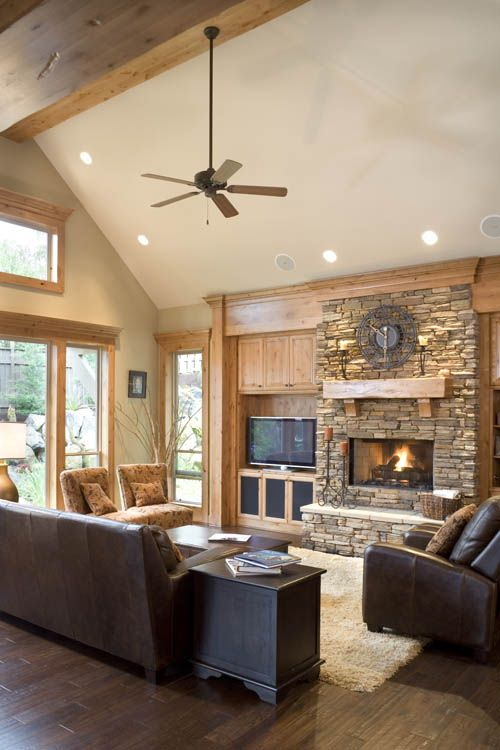 1000 ideas about rustic house plans on pinterest rustic for Great room fireplace