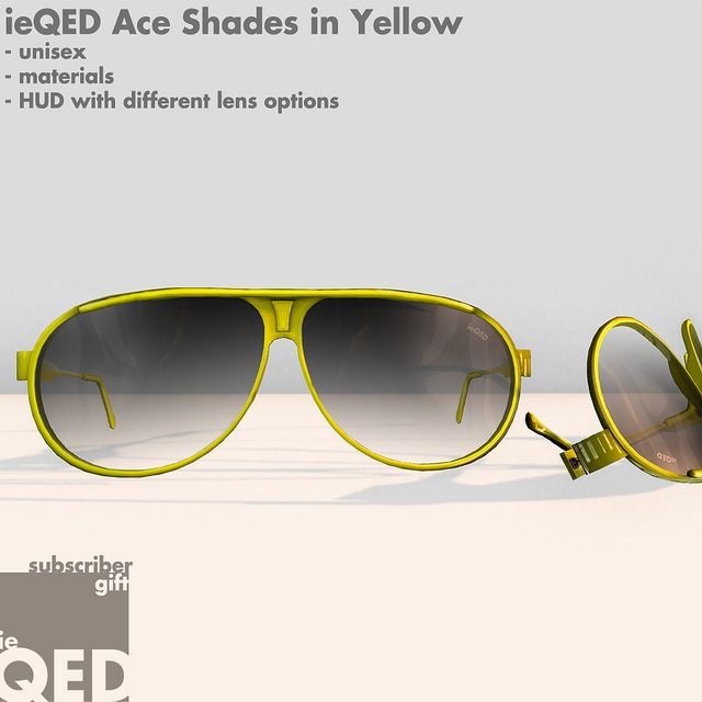 ieQED Subscriber Gift - Ace Shades in Yellow | Flickr - Photo Sharing!