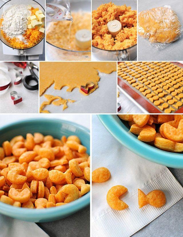 Recept na zlaté rybky domáce krekry a vykrajovátka 1
