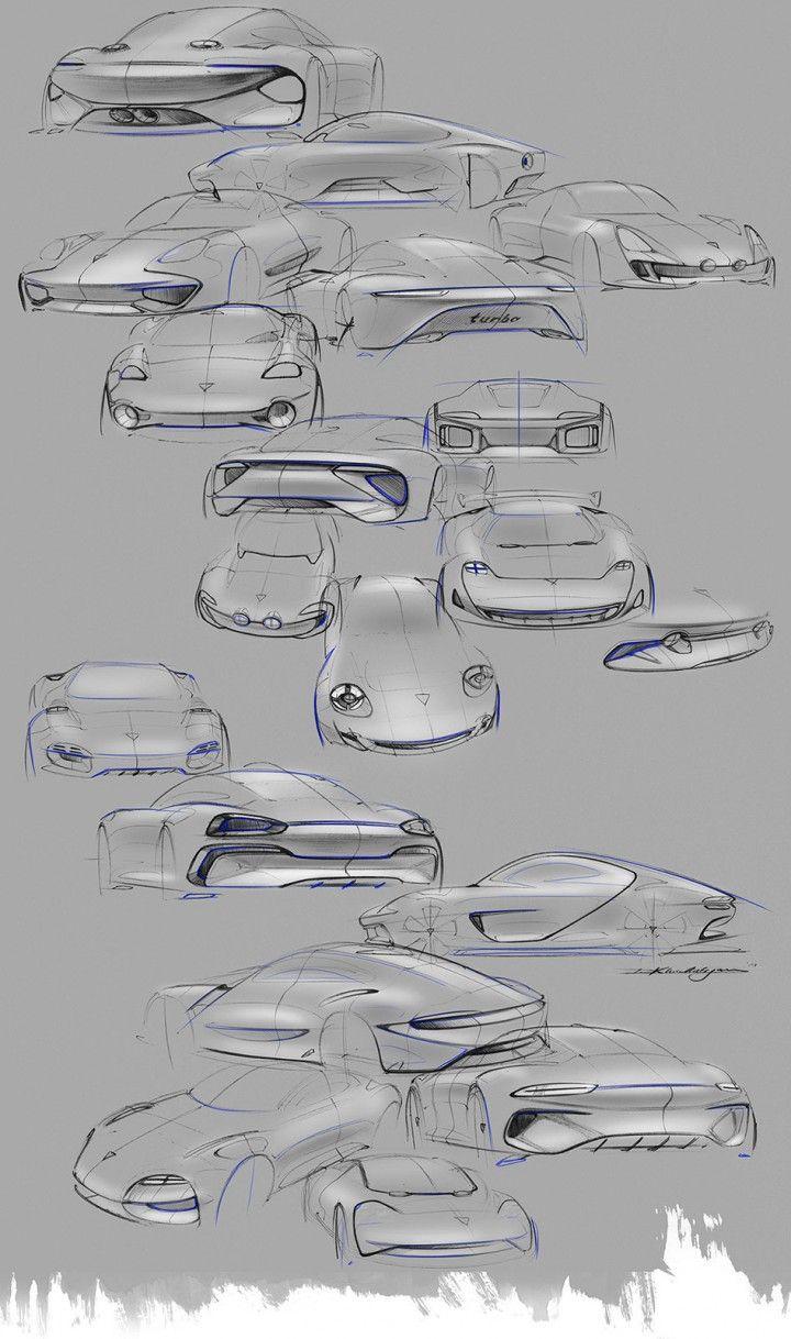 Daily Sketch: Porsche by David Khachatryan gallery: David's work: https://www.behance.net/dkonit