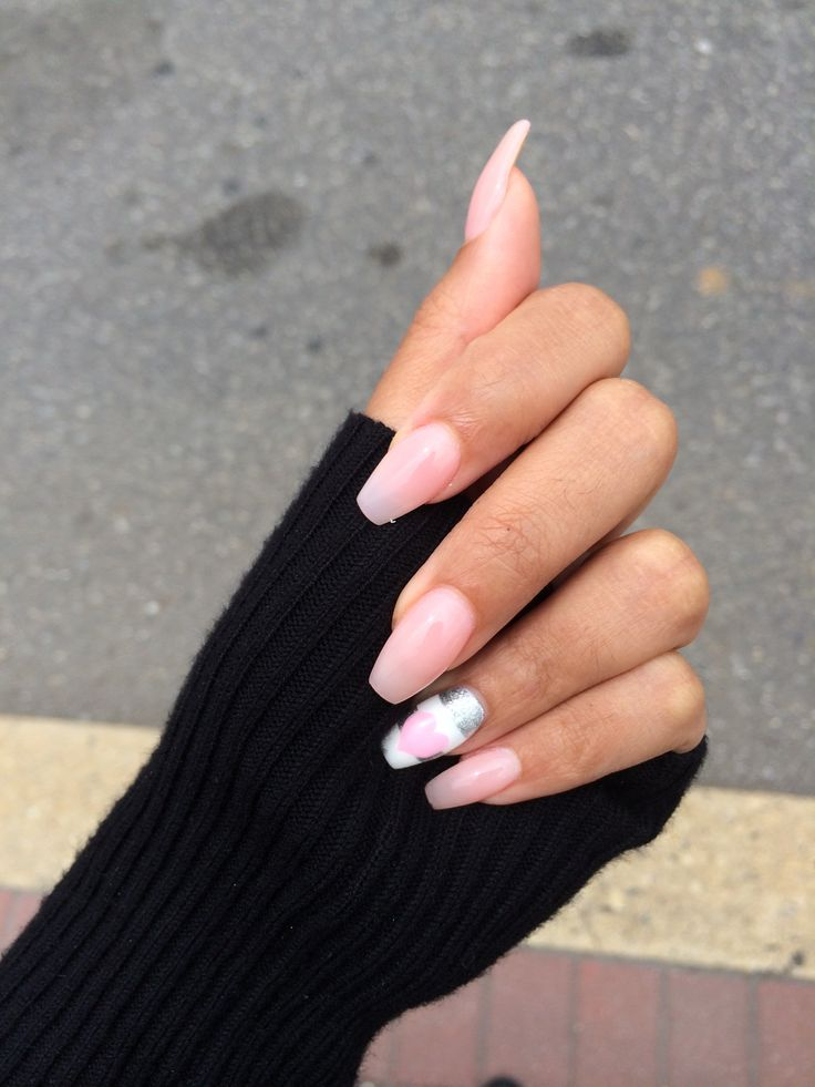 Goodbye pointy nails hello long squaoval nails! OPI pink passion color ...