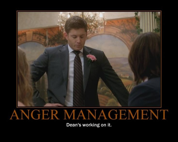 Supernatural #funny: Dean's got some anger issues...