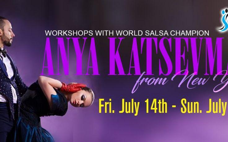 Workshops with 2x World Salsa Champion Anya Katsevman from New York City at Steps Dance Studio Sat. July 15 & Sun. July 16 | TorontoDance.com
