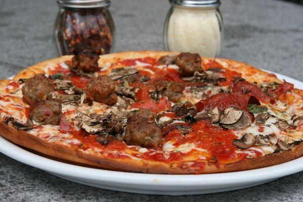 Gluten-Free Mushroom Pepperoni Sausage Pizza From