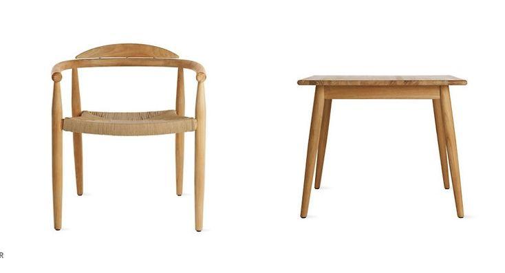 tavoli e sedie in Teak  da esterno di Povl Eskildsen