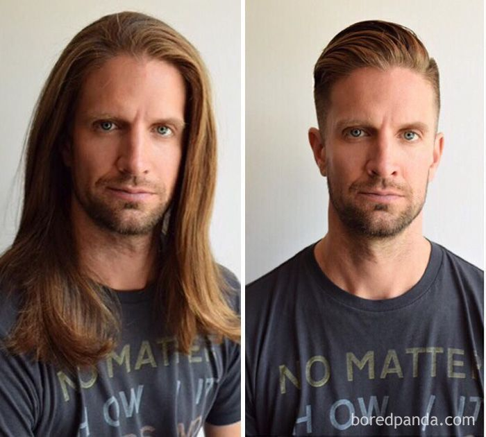 Pin On Before And After Haircut