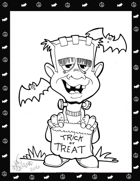 free halloween coloring pages | Free halloween Coloring pages « Cartuneman's wordpress Blog