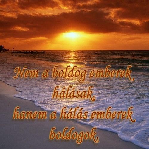 Nem a boldog emberek hálásak, hanem a hálás emberek boldogok. # www.facebook.com/angyalimenedek