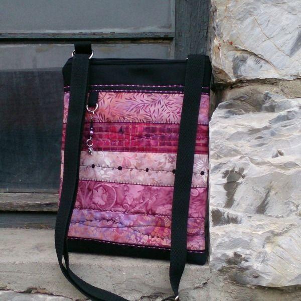 Strips, Bags, messenger, patchwork, cross body , from Helenamode by DaWanda.com
