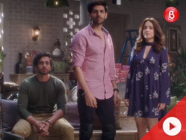 Kartik Aaryan and Nushrat Bharucha are back together on screen, and neither seems happy