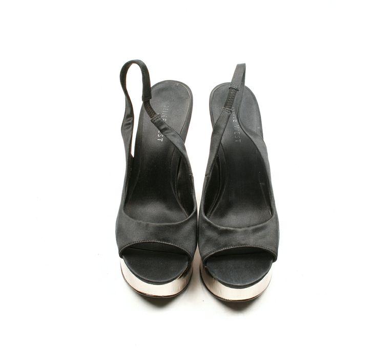 Cuña Peep Toe Negra Nine West  93€