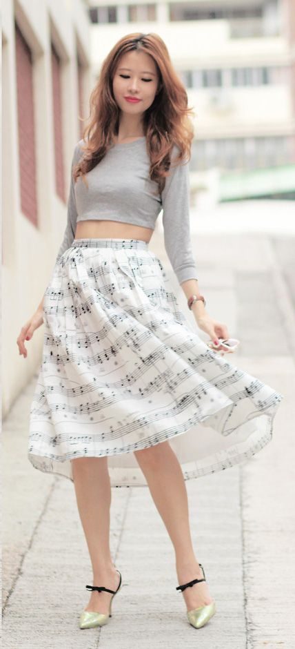 dance with music note skirt