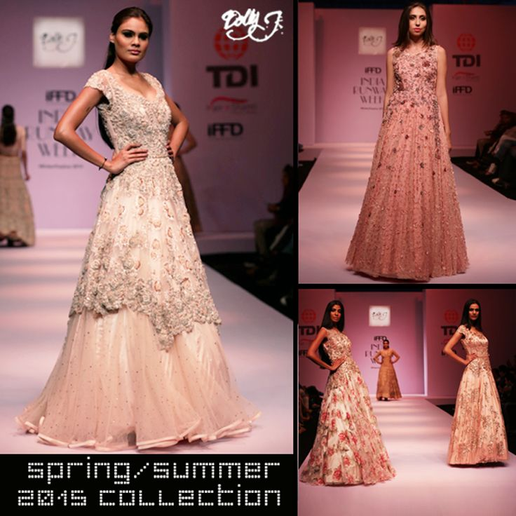 Dolly J designing the Indian form with modern twist. In SS'15, the collection are the elements of floral and fauna. The color scheme has shades of purple, pinks to peaches, red with traditional golden embroidery techniques.