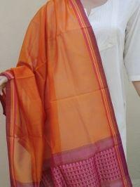 Silk cotton handloom Maheshwari Dupatta