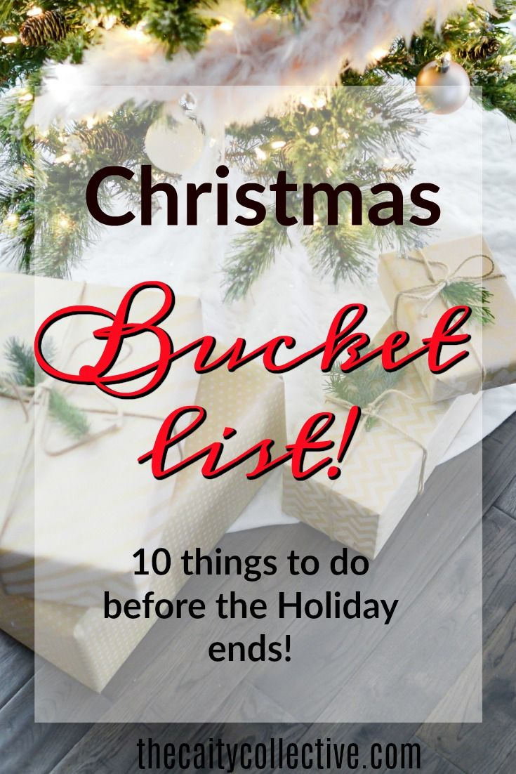 Looking for some festive activities to get you in the holiday spirit? Here are 10 fun things to complete before Christmas this year! Bucket list | Christmas | Christmas activities | things to do at Christmas