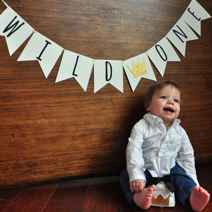 Wild One First Birthday Banner Handcrafted in