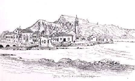 ZANTE . view from the river estuary, by  Salvator, 1902