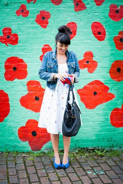 Love this wall nearly as much as this simple summer outfit. Melissa Hemsley - Today I'm Wearing blog. #vogue