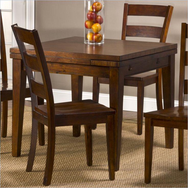 Casual Dining Room Sets square drop leaf | Hillsdale Harrods Creek Square Rectangular Gathering w Drop Leaf ...