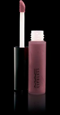 """MAC Lipglass in """"Lovechild"""" is my lip color staple.  Universally flattering.  If you haven't bought this, ya need to."""
