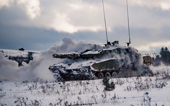 Herunterladen hintergrundbild leopard 2a6, deutsche panzer, kanadische armee, winter, schnee, moderne panzer, schützenpanzer, kampfpanzer, kanadische streitkräfte
