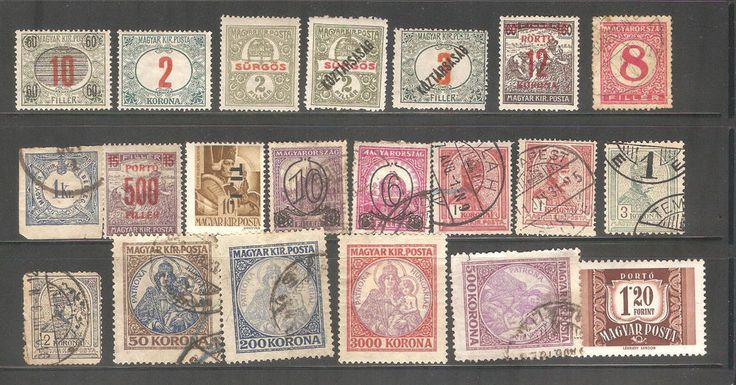 Hungary Stamps Old Postage