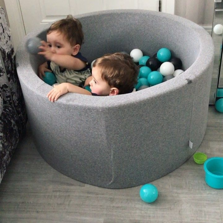 """3,782 Likes, 55 Comments - J a y d e C h o r l t o n (@jayde_jenson_rocco) on Instagram: """"Ball skills ✌🏼🔵⚫️⚪️ ballpit from @misioo.handmade and wearing @mi_loves_ #JensonandRocco…"""""""