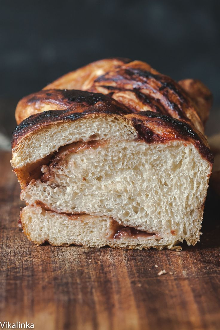 Slow Cooker: Rhubarb and Red Currant Jam Swirled Bread - Vikali...