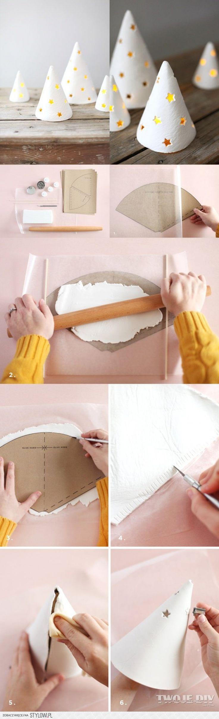 Zrób niesamowite świeczniki stożki z suchej porcelany.…